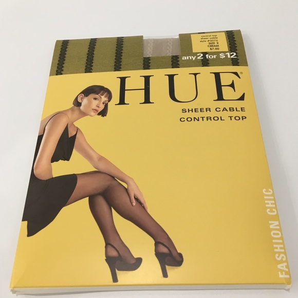d6ab8dd2e8f13 HUE Accessories | Sheer Cable Hosiery | Poshmark